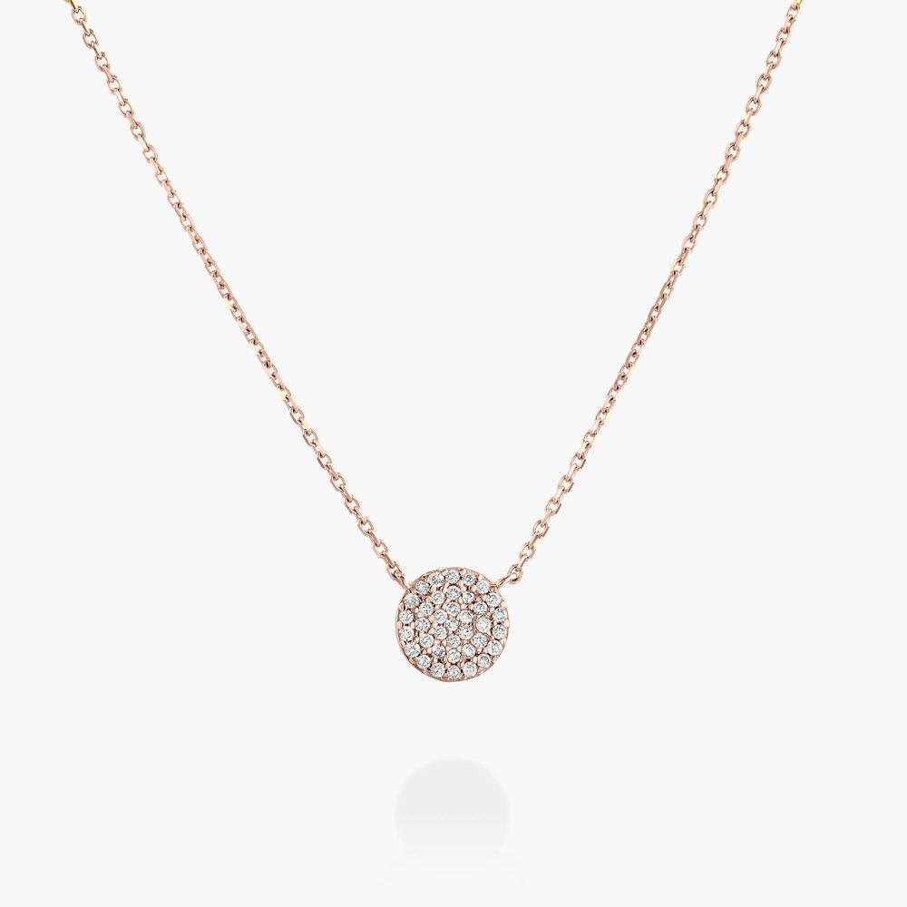 Keeya Pave Diamond Necklace - Rose Gold Plating