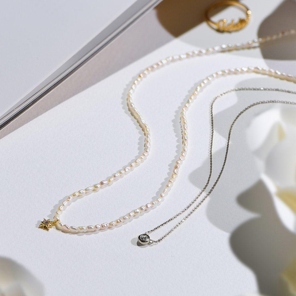 Juno Diamond Necklace - Sterling Silver - 3