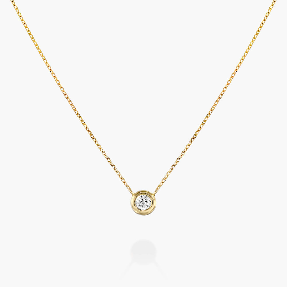 Juno Diamond Necklace - Gold Plating