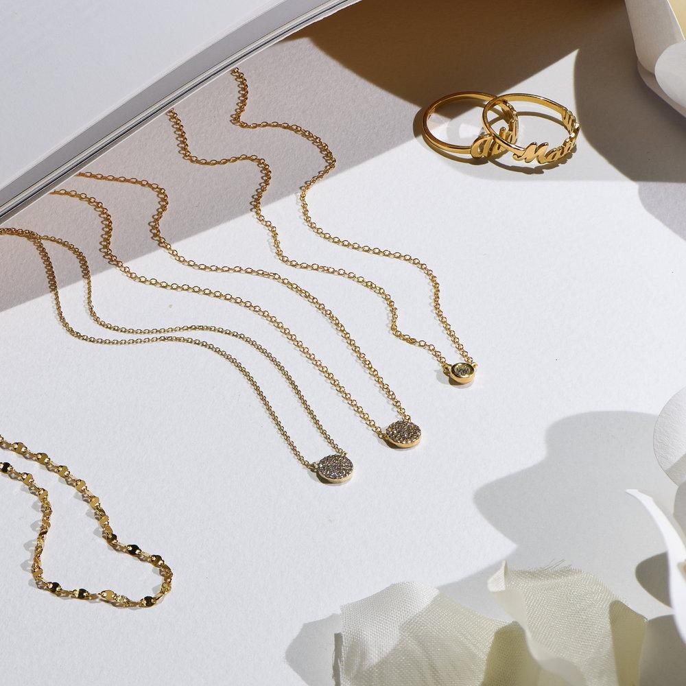 Juno Diamond Necklace - Gold Plating - 3
