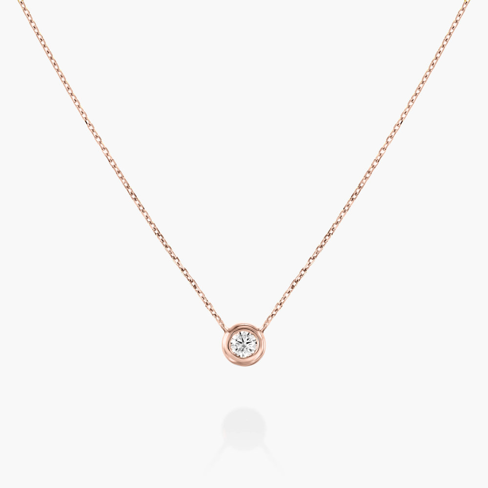 Juno Diamond Necklace - Rose Gold Plating