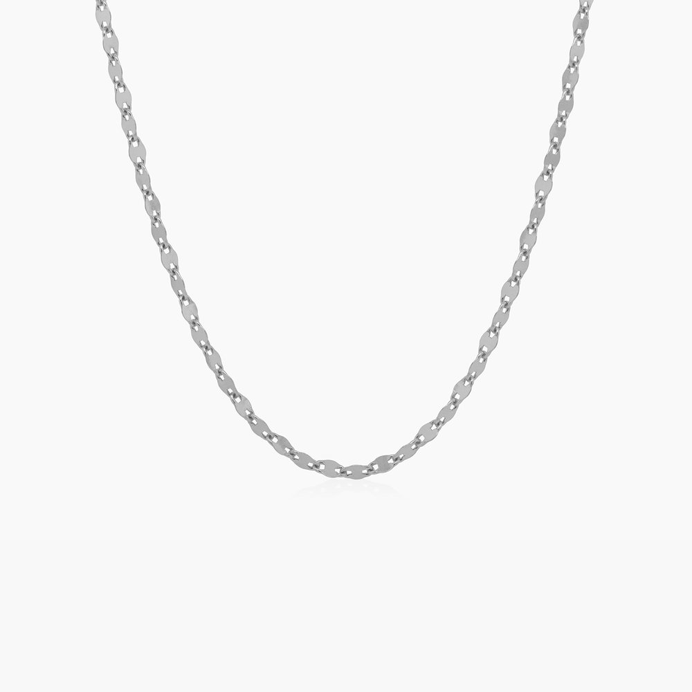 Aria Mirror Chain Necklace - Sterling Silver