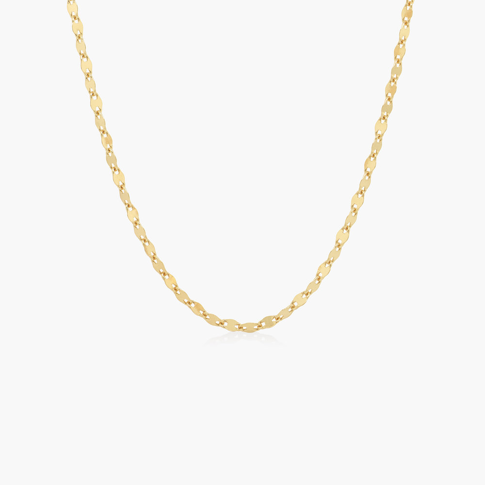 Aria Mirror Chain Necklace - Gold Plating