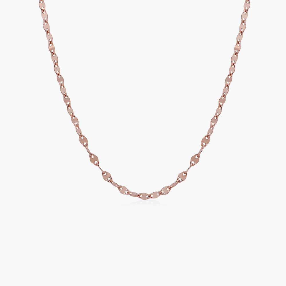Aria Mirror Chain Necklace - Rose Gold Plating