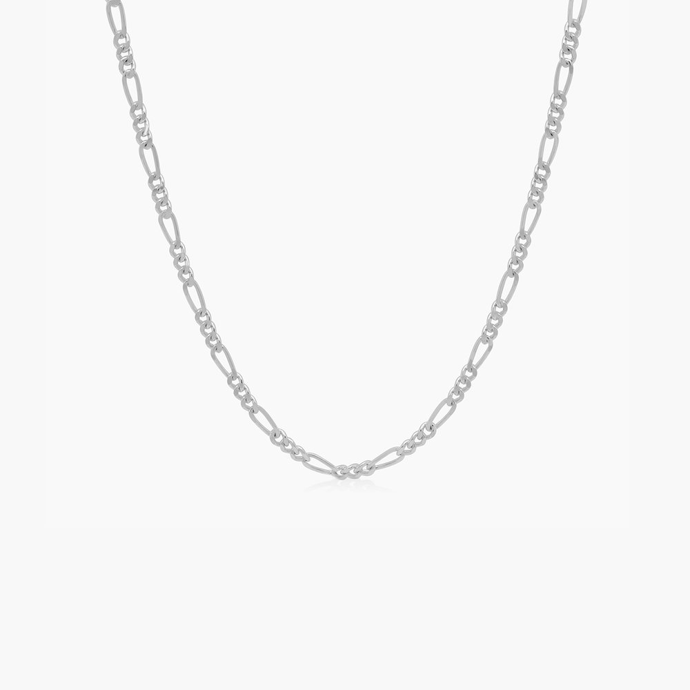 Figaro Chain Necklace - Sterling Silver