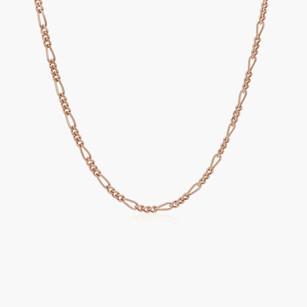 Figaro Chain Necklace - Rose Gold Plating