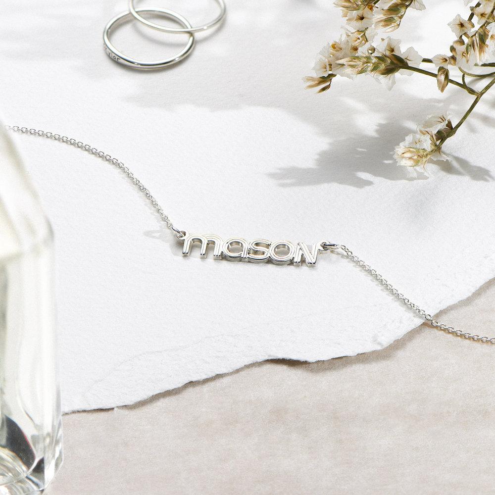 Bonnie Name Necklace - Silver - 1