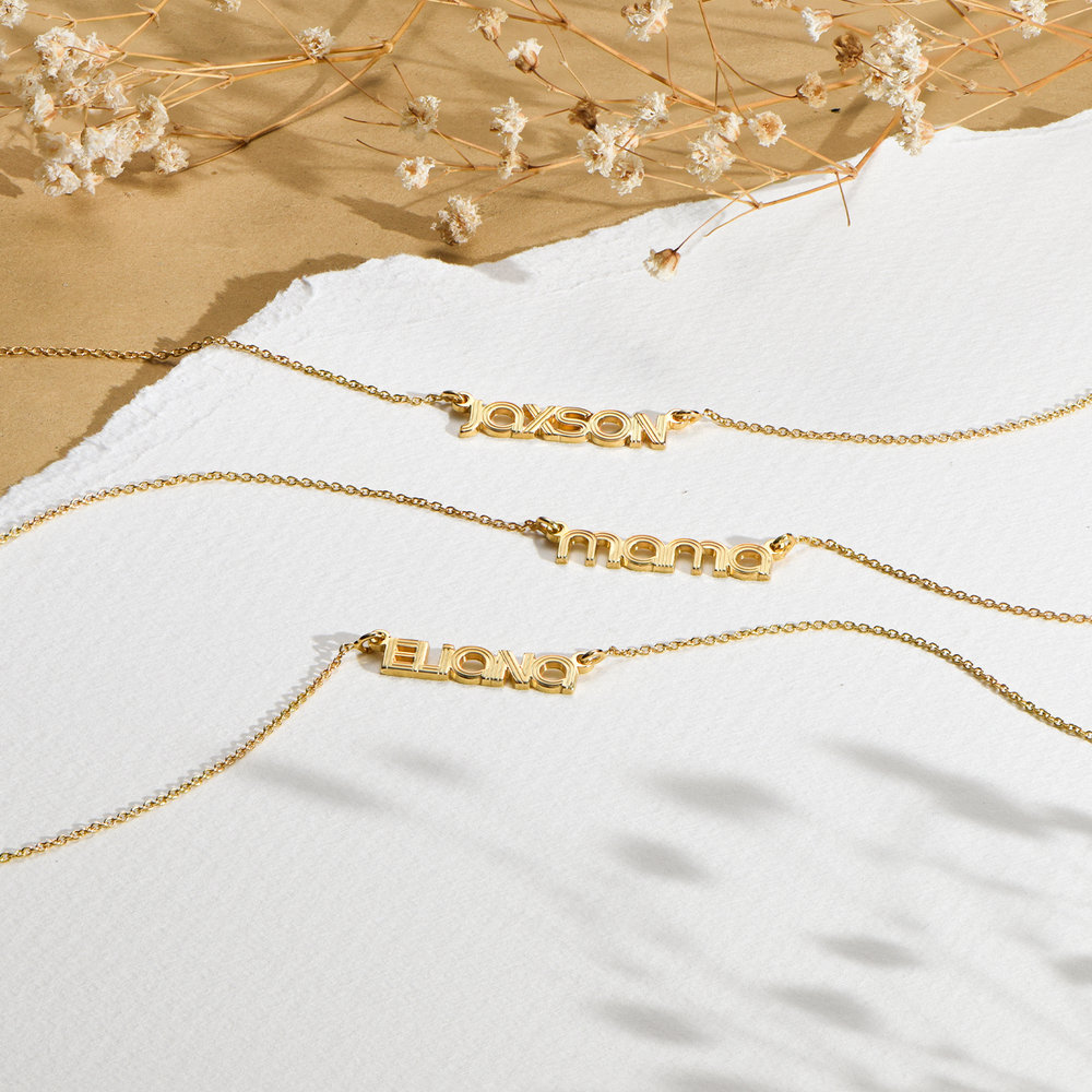 Bonnie Name Necklace - Gold Plated - 1