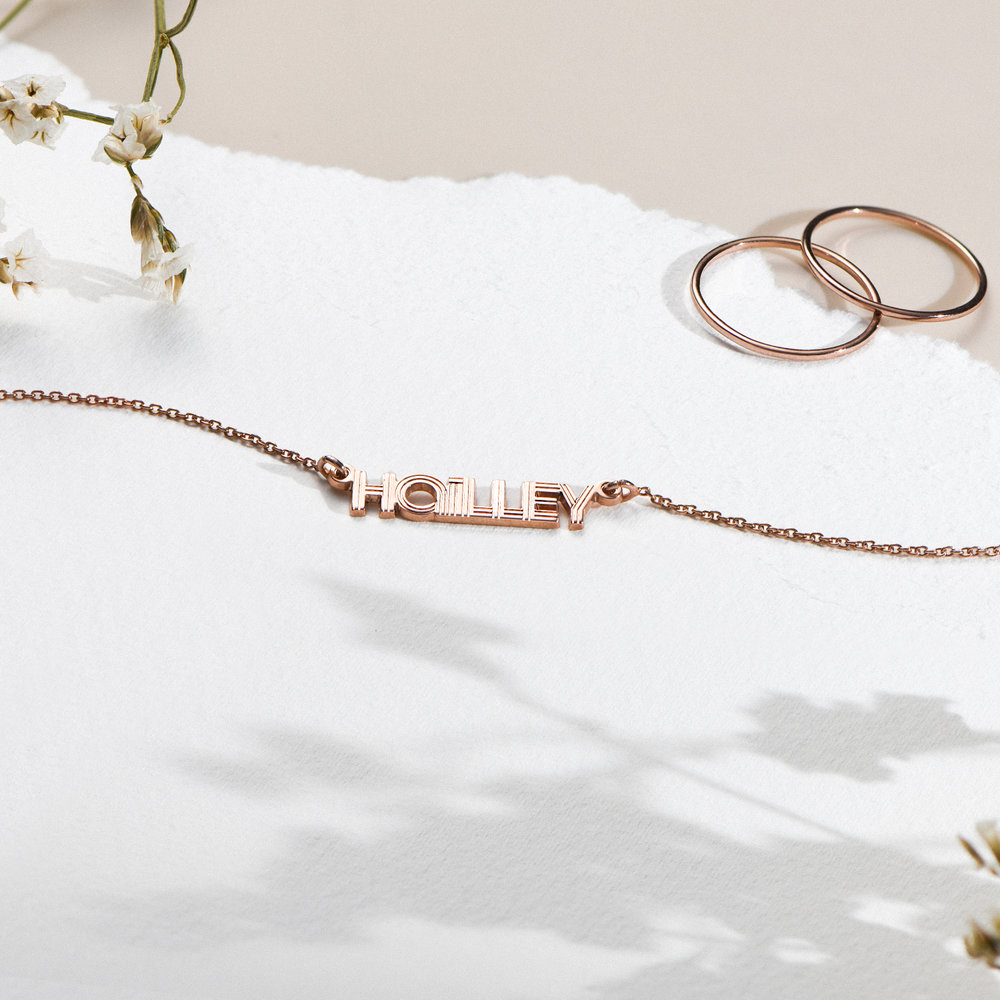 Bonnie Name Necklace - Rose Gold Plated  - 1