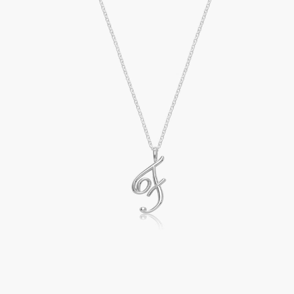 Nina Medium Initial Necklace - Silver