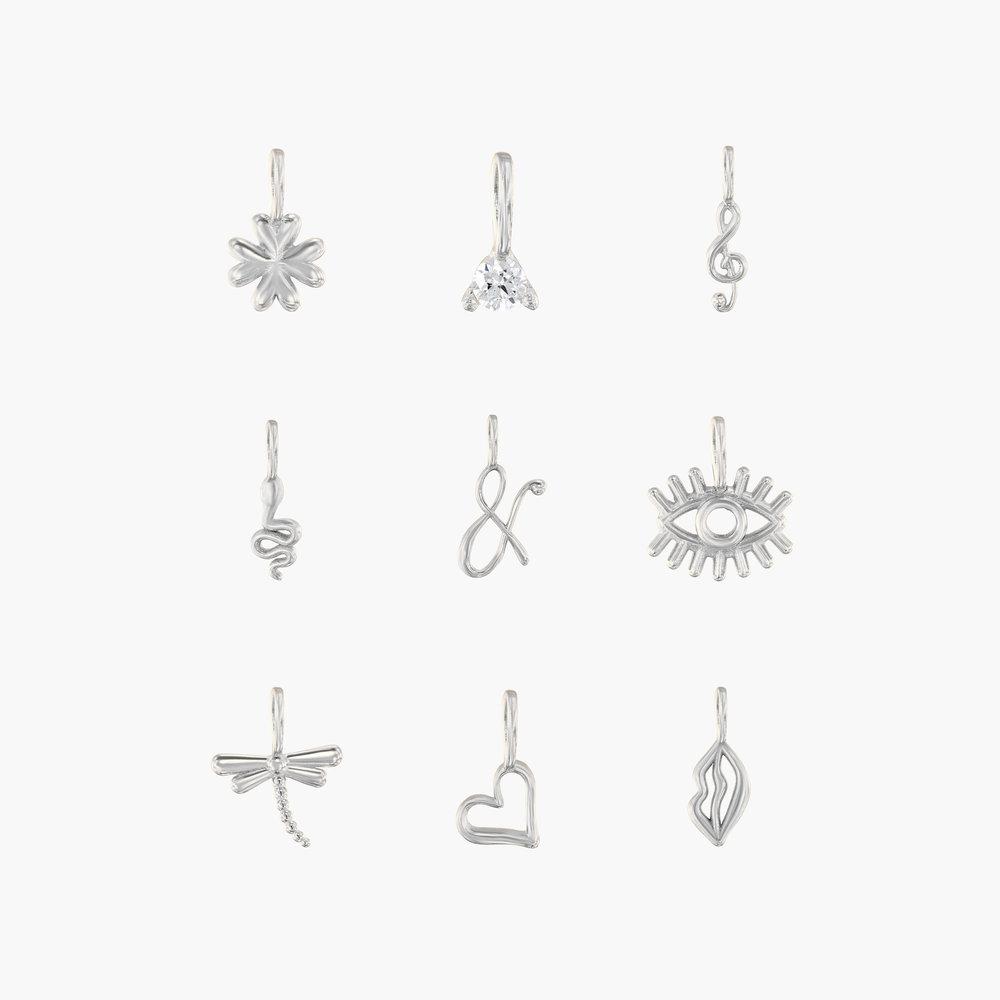 Nina Medium Initial Necklace - Silver - 4