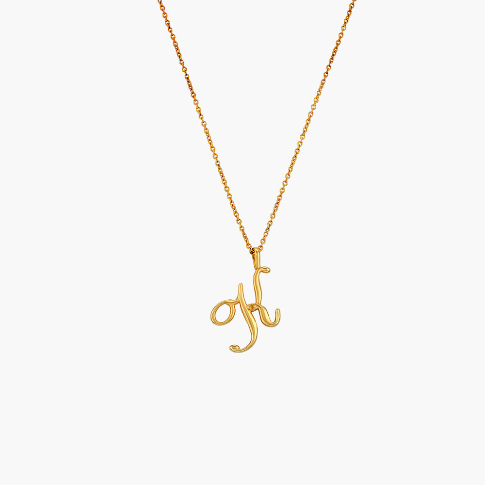 Nina Medium Initial Necklace - Gold Plating