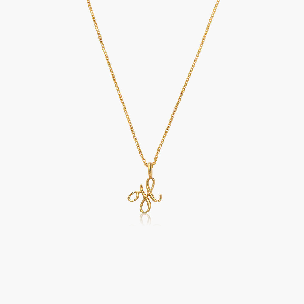 Nina Small Initial Musical Necklace - Gold Vermeil