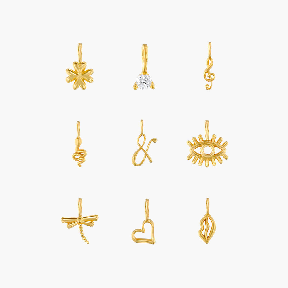 Nina Small Initial Musical Necklace - Gold Vermeil - 4
