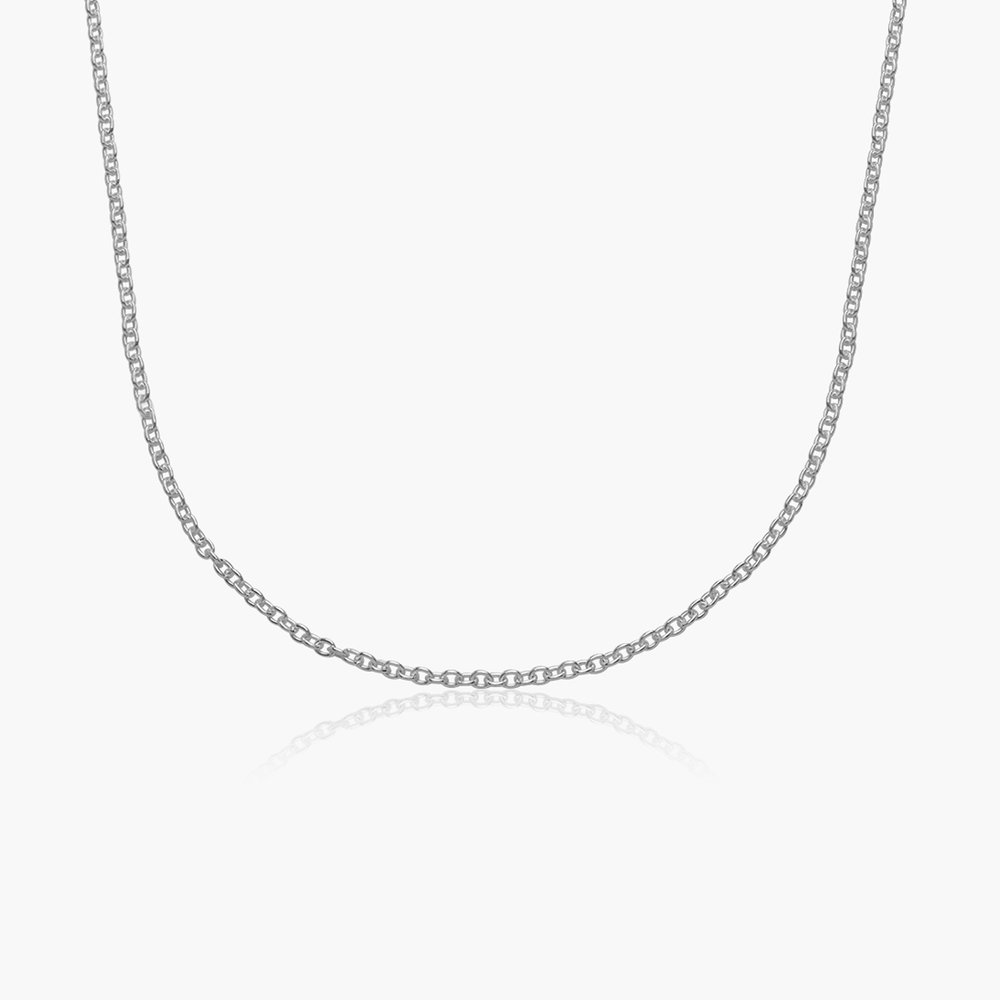 Cable Chain Necklace -Silver
