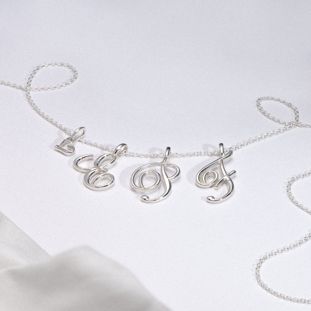 Cable Chain Necklace -Silver - 1