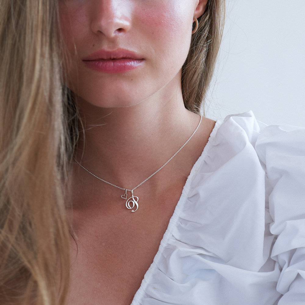 Cable Chain Necklace -Silver - 2