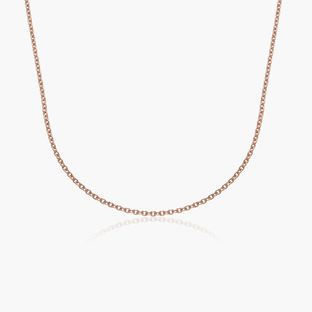 Cable Chain Necklace in -Rose Gold Plating