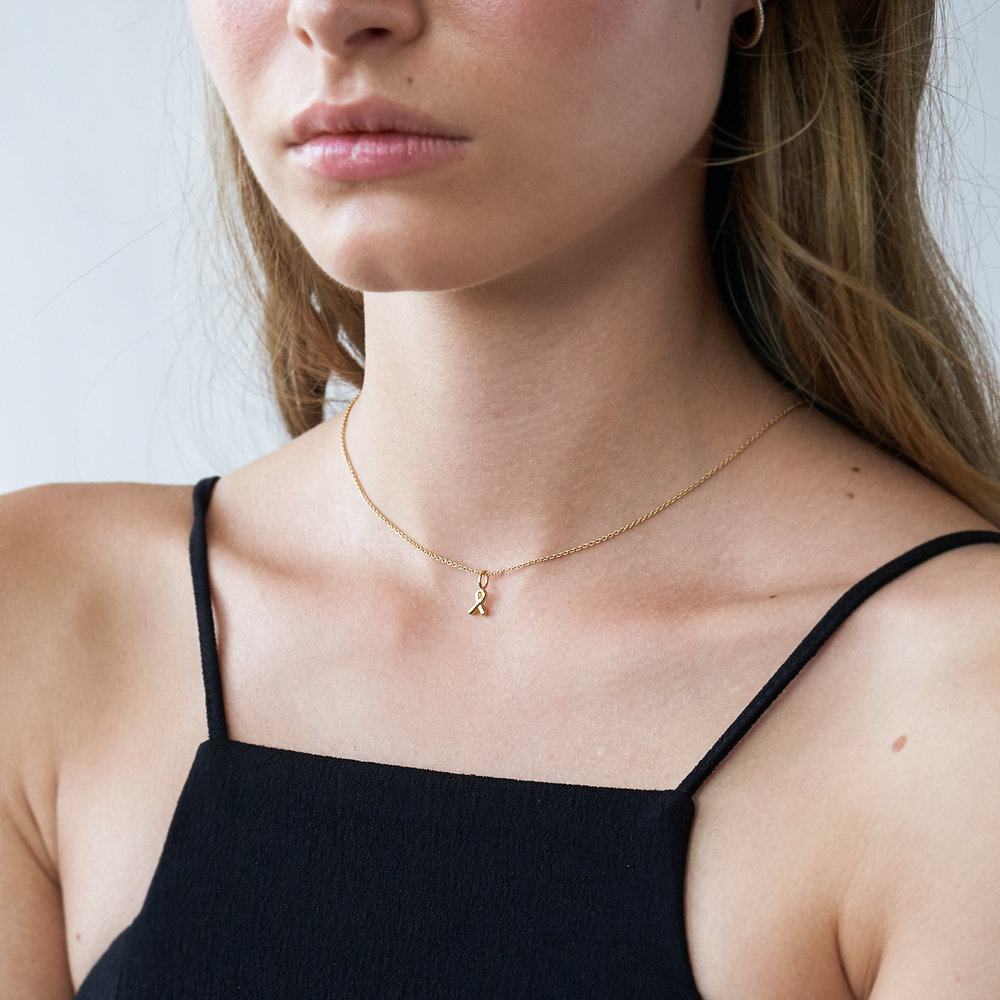 Breast Cancer Awareness Necklace - Gold Plated - 2