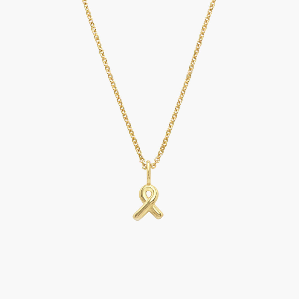 Breast Cancer Awareness Necklace - Gold Vermeil