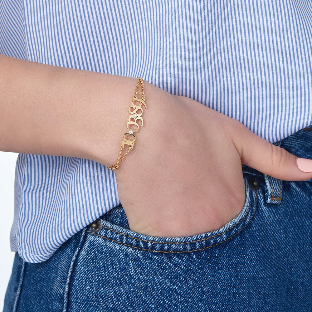 Mark the Date Bracelet - Gold Plated - 3