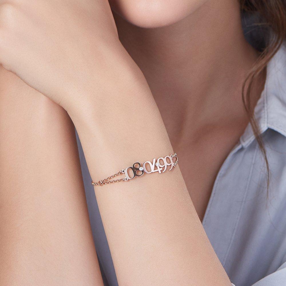 Mark the Date Bracelet - Rose Gold Plated - 3