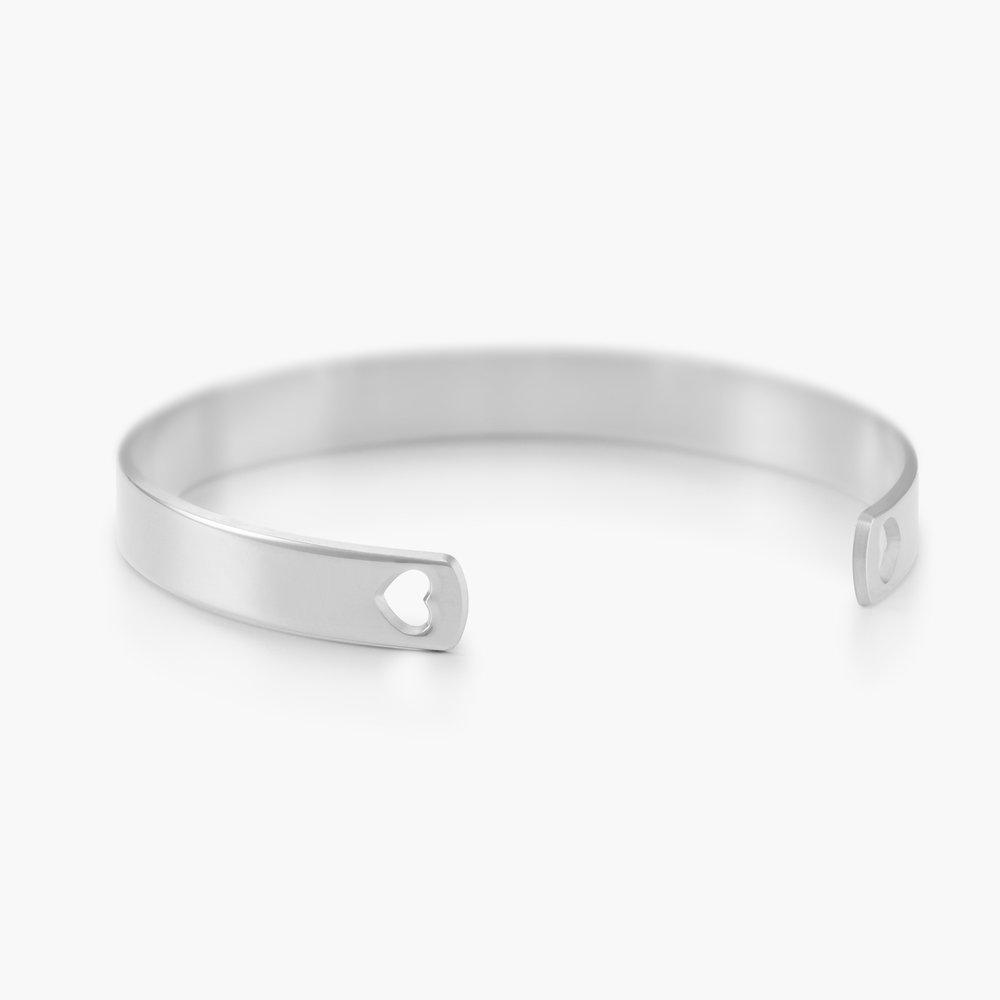 My Heart Bangle Bracelet - Silver - 1