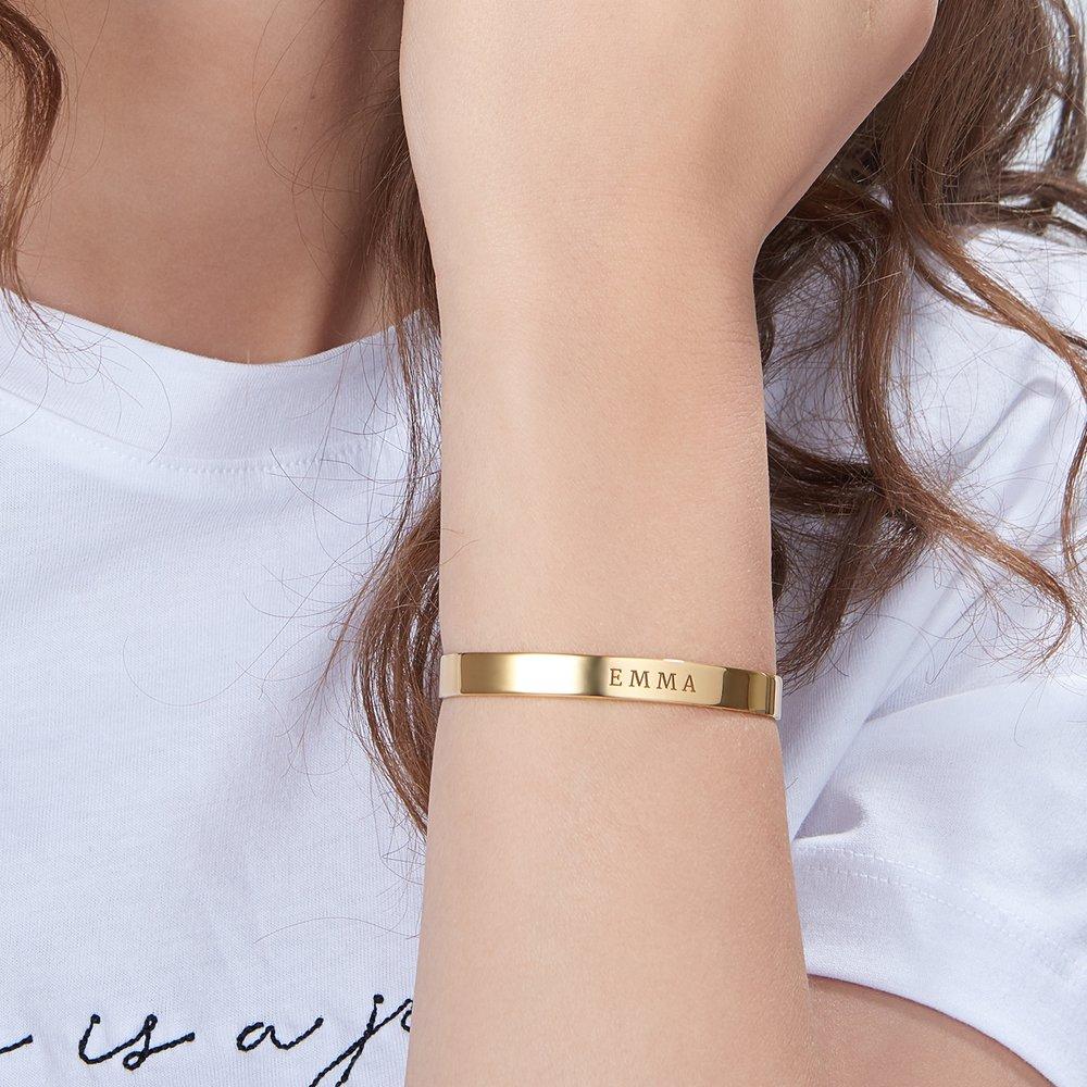My Heart Bangle Bracelet  - Gold Plated - 3
