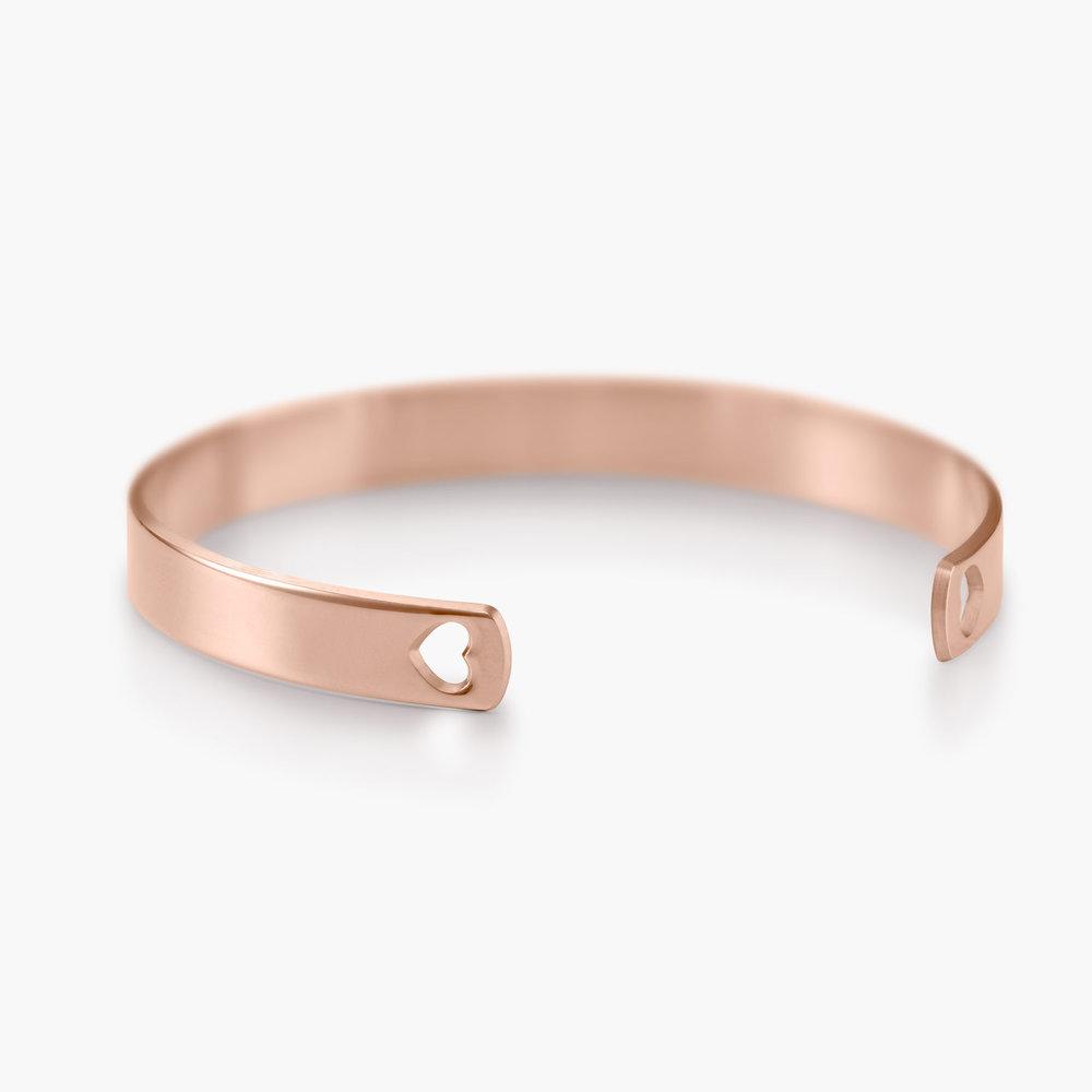 My Heart Bangle Bracelet - Rose Gold Plated - 1