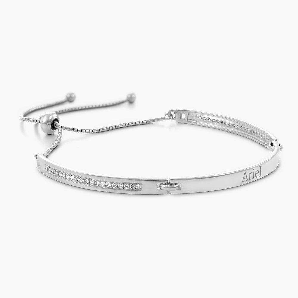 Luna Adjustable Name Bracelet - Silver - 1