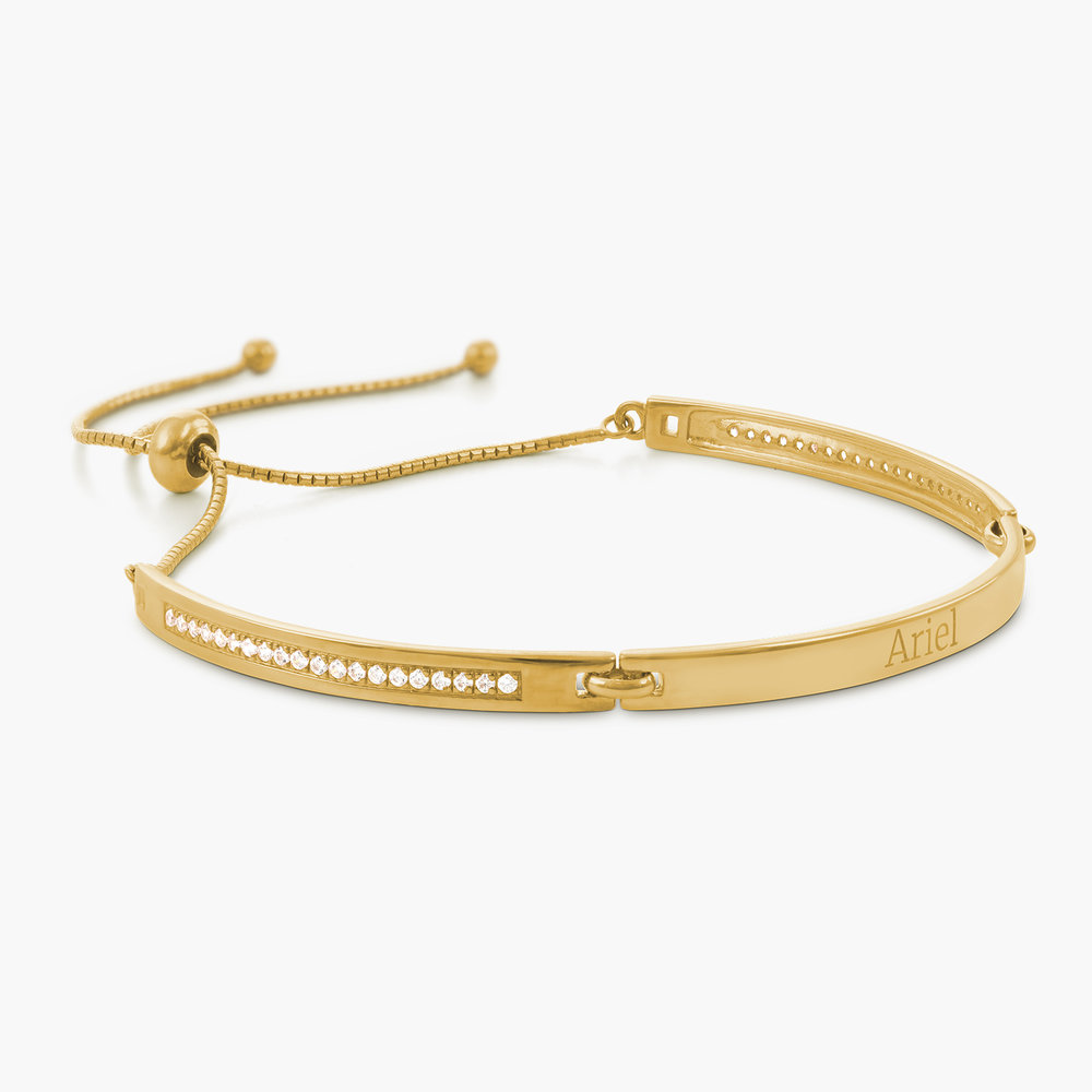 Luna Adjustable Name Bracelet - Gold Plated - 1