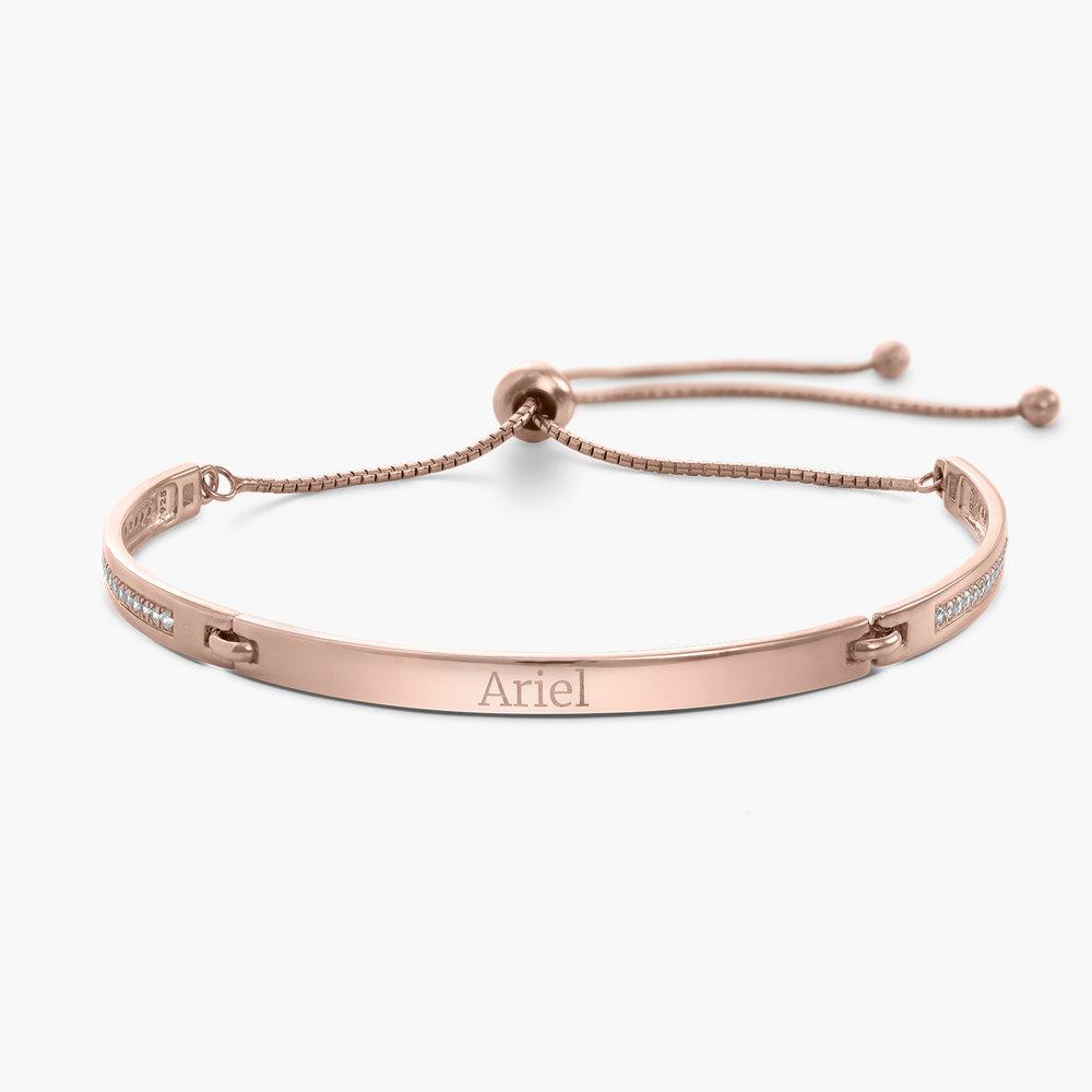 Luna Adjustable Name Bracelet - Rose Gold Plated