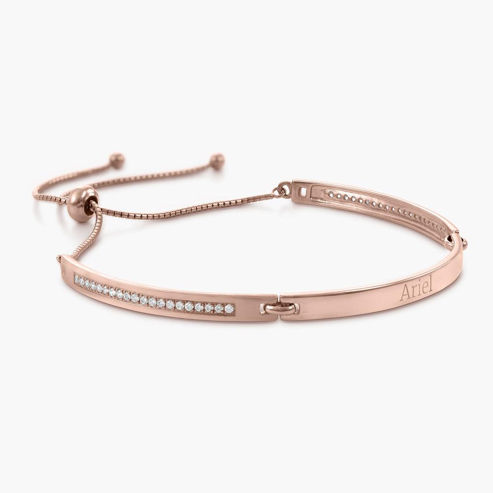 Luna Adjustable Name Bracelet - Rose Gold Plated - 1