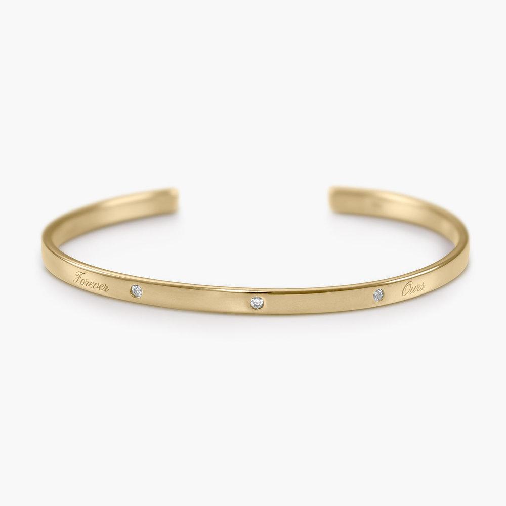 Luna 3 Stars Bangle Bracelet - Gold Plated