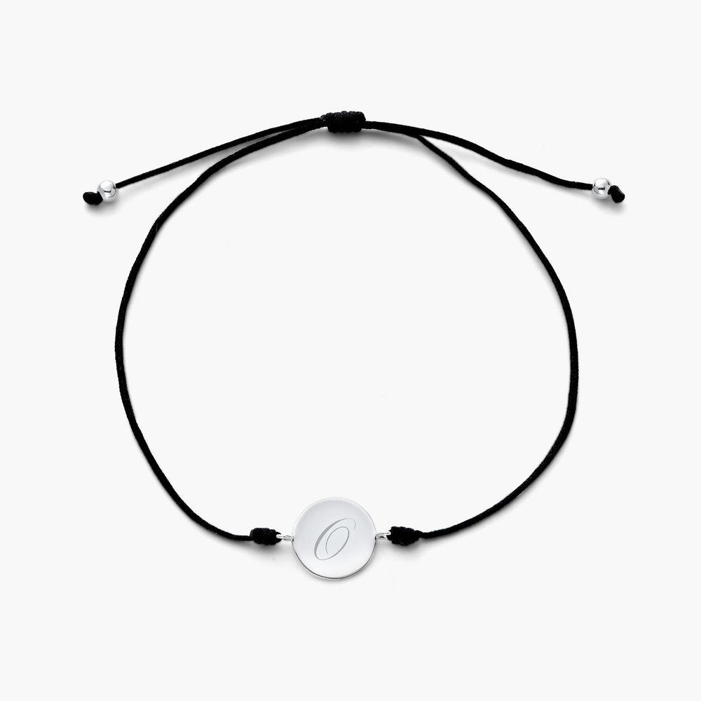 A to Z Cord Bracelet - Silver