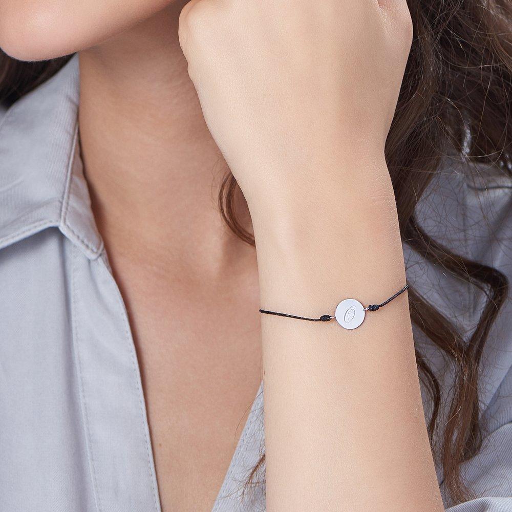 A to Z Cord Bracelet - Silver - 2