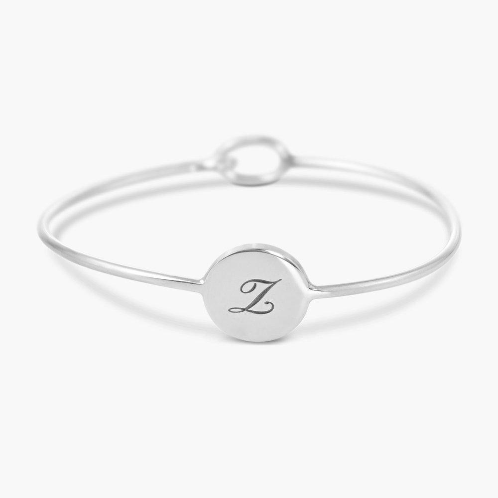 Luna Bangle Bracelet - Silver