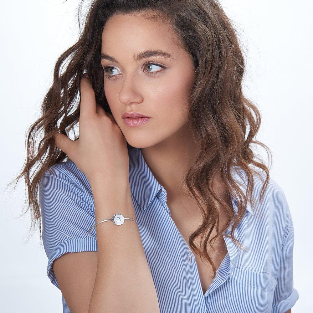 Luna Bangle Bracelet - Silver - 2
