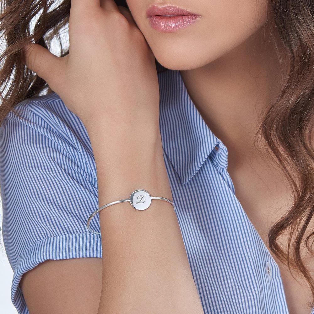 Luna Bangle Bracelet - Silver - 3