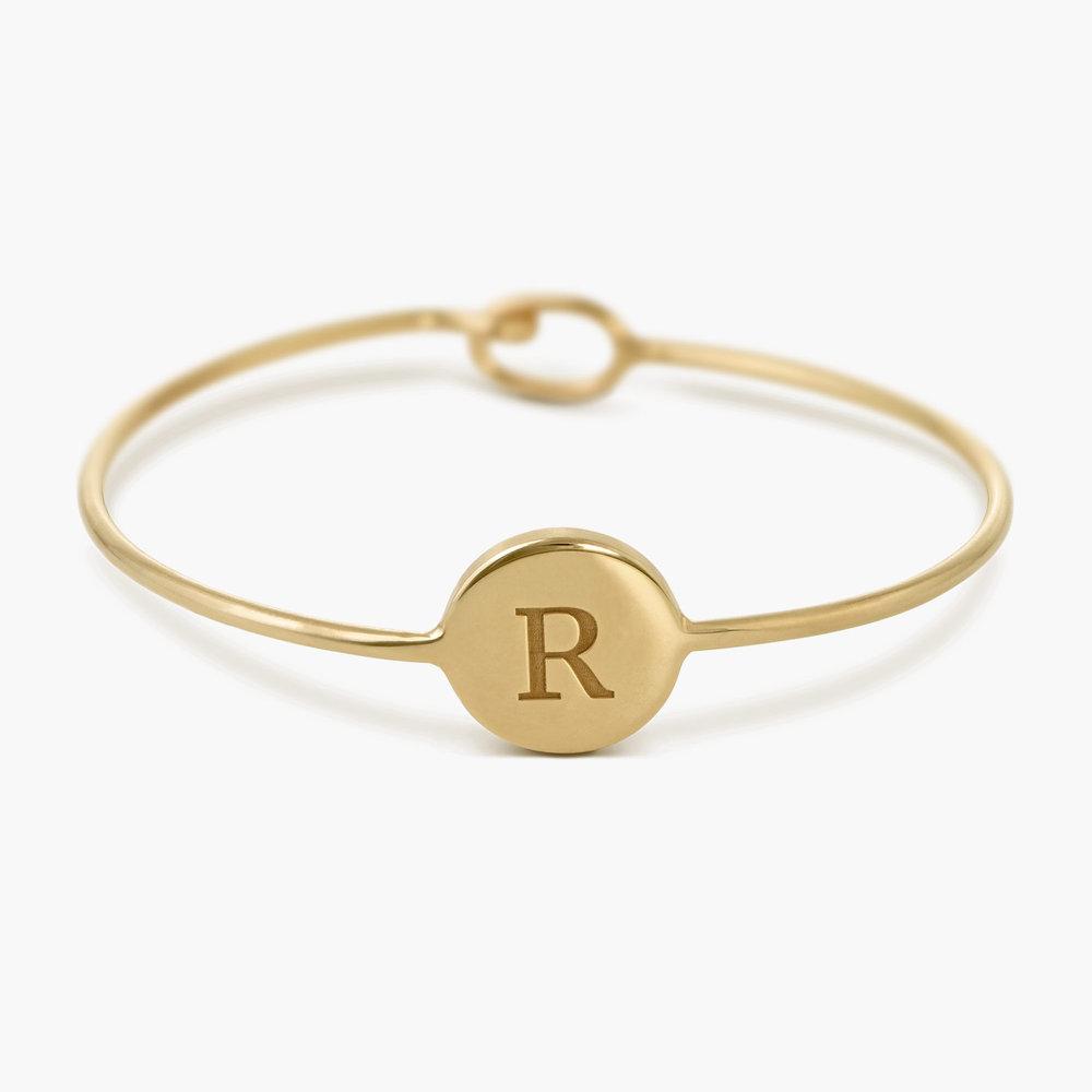 Luna Bangle Bracelet - Gold Plated