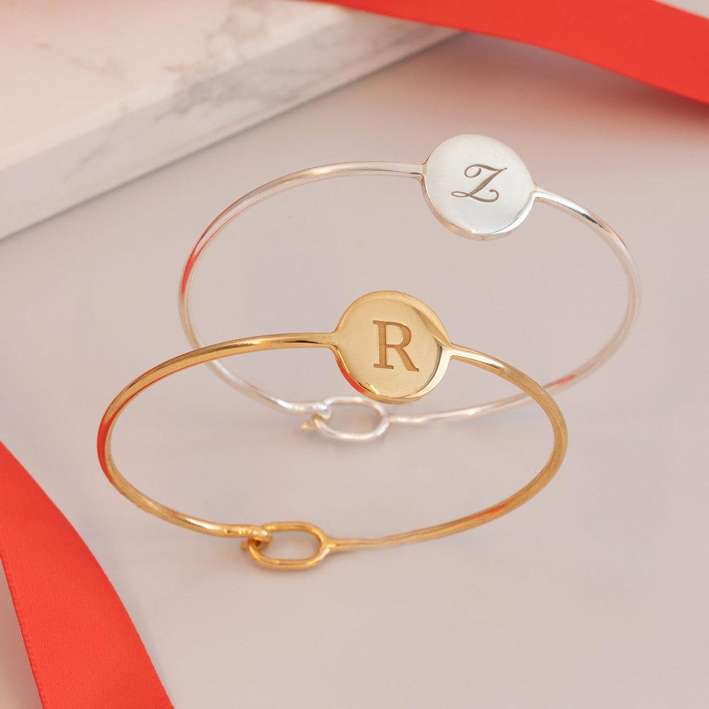 Luna Bangle Bracelet - Gold Plated - 1