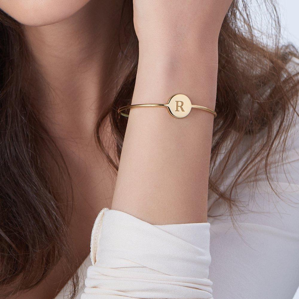 Luna Bangle Bracelet - Gold Plated - 3