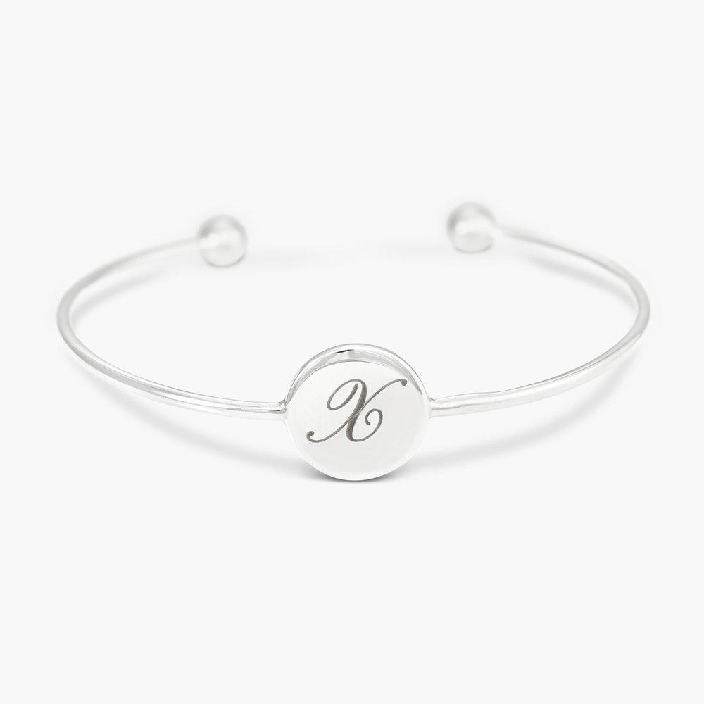 Luna Open Bangle Bracelet - Silver