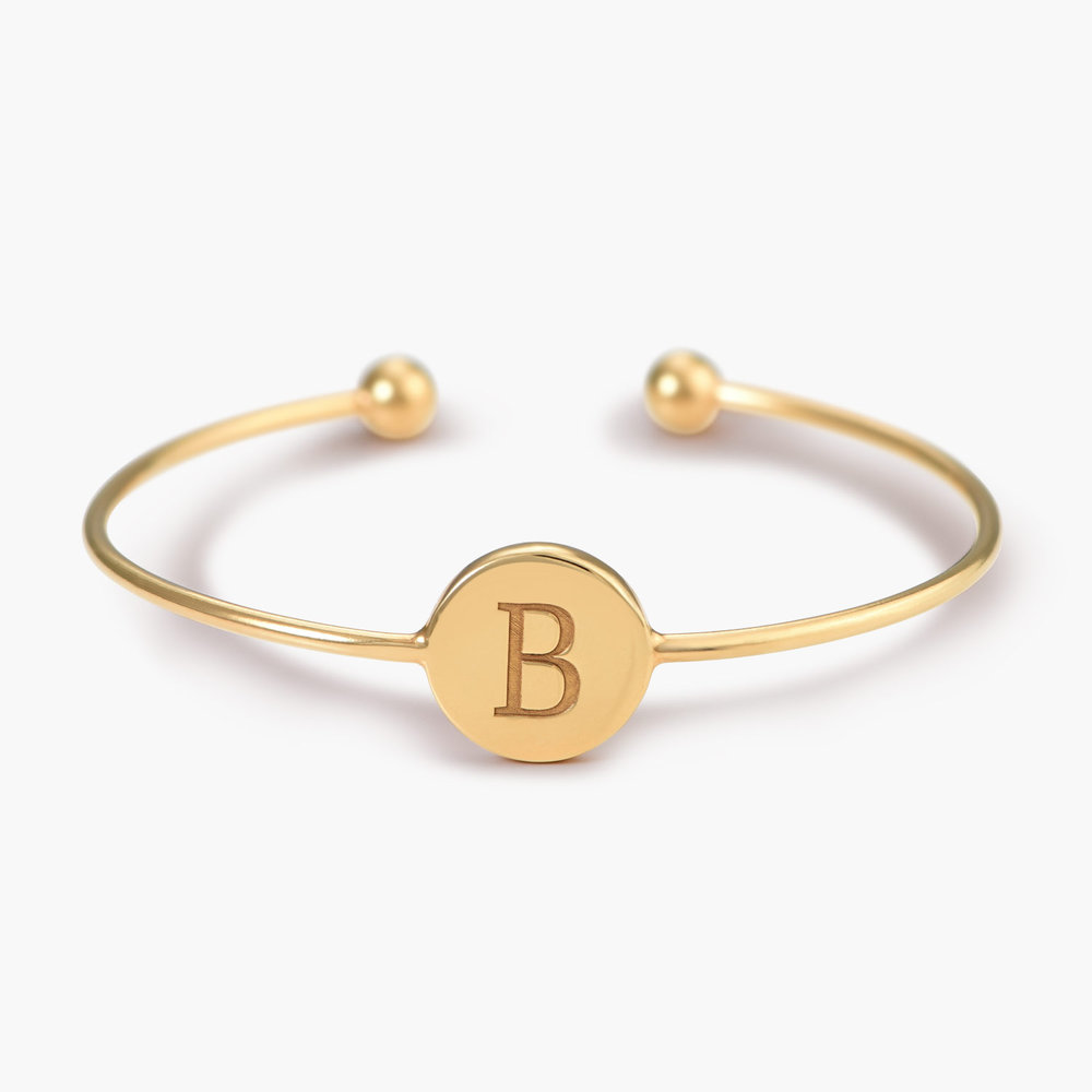 Luna Open Bangle Bracelet - Gold Plated
