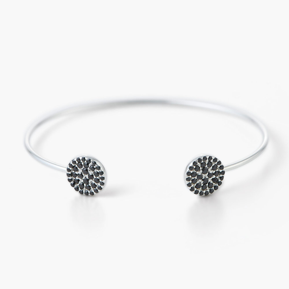 Orbit Bangle Bracelet - Silver