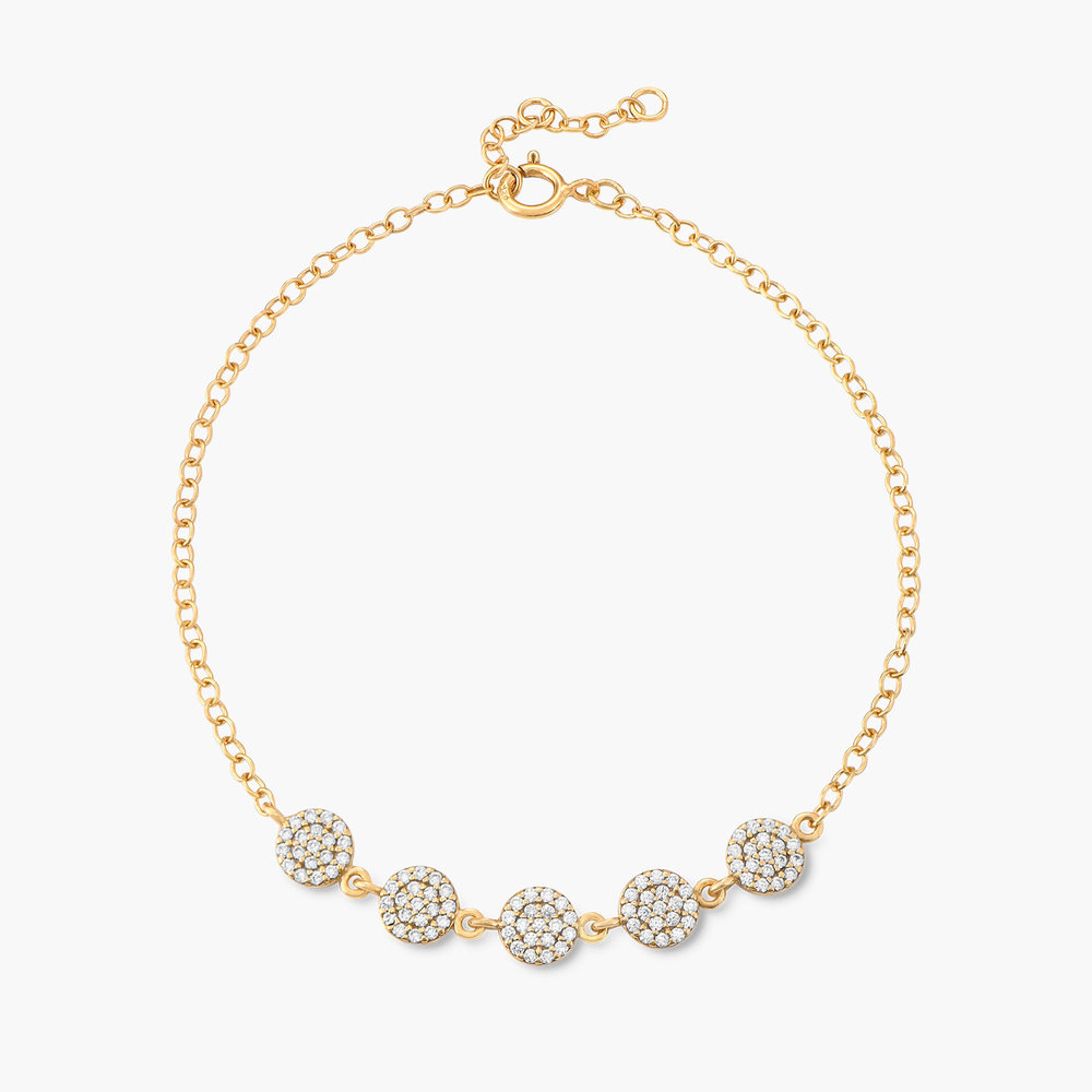 Stardust Bracelet with Cubic Zirconia - Gold Plated