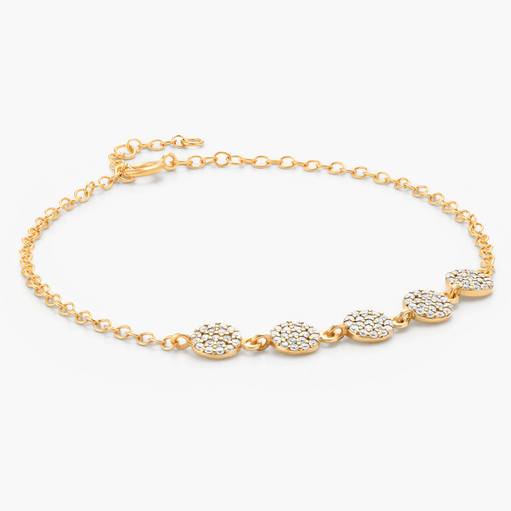 Stardust Bracelet with Cubic Zirconia - Gold Plated - 1