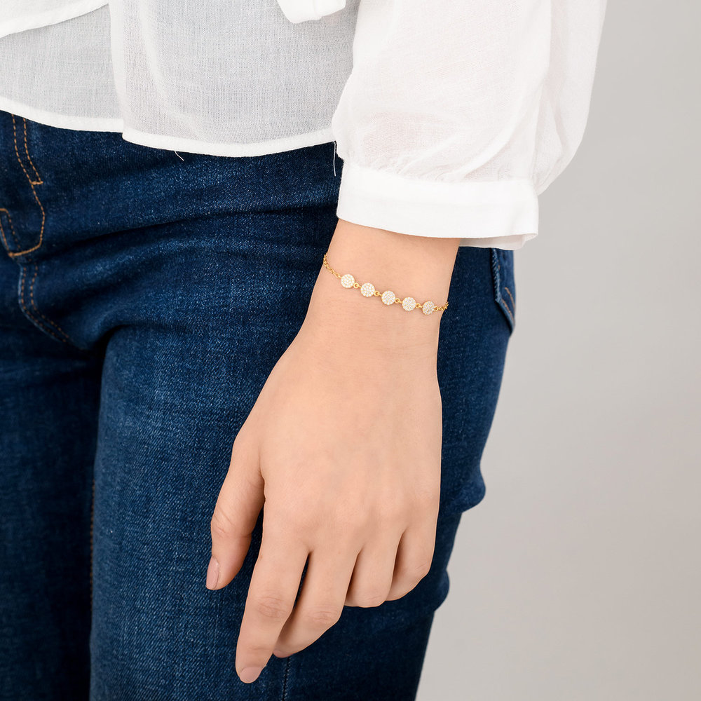 Stardust Bracelet with Cubic Zirconia - Gold Plated - 3