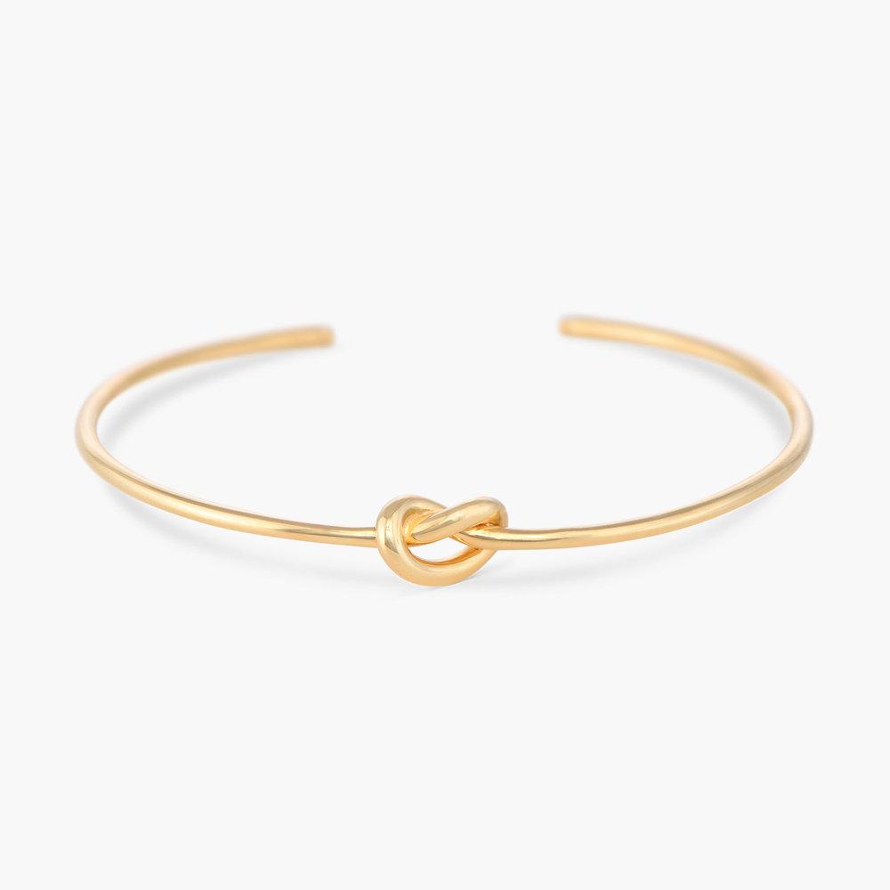 Knot Now Bangle Bracelet - Gold Plated