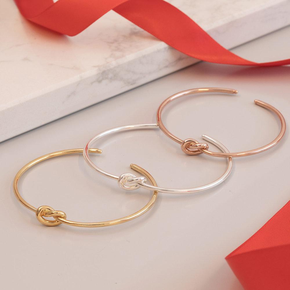 Knot Now Bangle Bracelet - Gold Plated - 1
